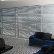 Aluminium Roller Shutters with punched holes