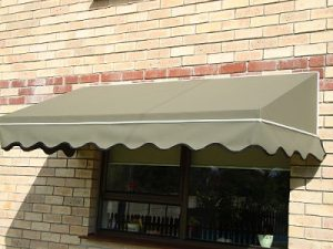 Fixed Canvas Awning - Wedge