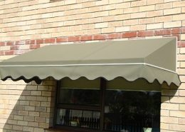 Fixed Frame Wedge Awning with scallop