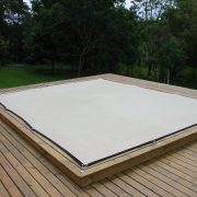 Pool after fitment of Secure-Fit cover