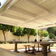 Adjustable Louvre Roofs - Outdoor living areas protected from the elements