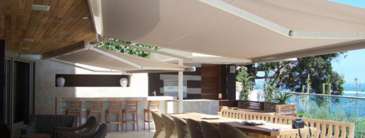 Fold Arm Awnings extend protection from the sun