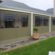 Drop Blinds in Weatherguard Olive