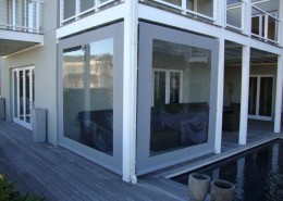Geared Drop Panel Blinds with window panels