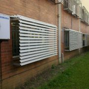 Fixed Sun Louvres can eliminate the need for air conditioning