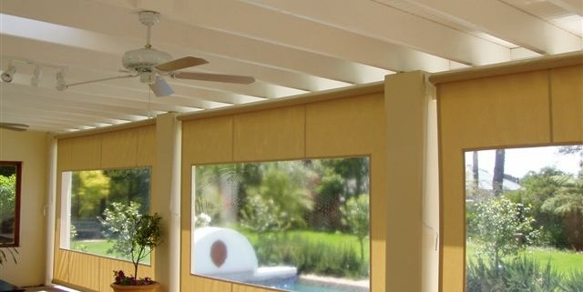 Geared Drop Blinds are perfect for outdoor entertainment areas