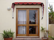 Retractable Fabric Awning - Extended Basket