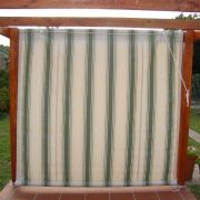 Rope & Pulley Drop Blind with Dickson Fabric