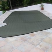Secure-Fit pool cover - Black fabric